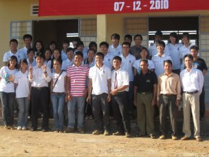 Leaders of Di Linh district and SAJC teachers, students were at the opening day of IT room – Dec 7th, 2010.