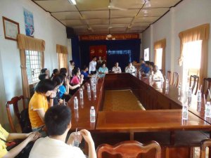 A meeting at Loc Khanh Commune