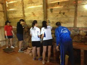 The volunteers were building ECO Love House and repairing EVG Community Library