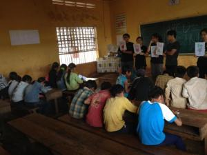 These lively and interesting classes that the volunteers prepared for the children